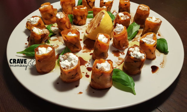 Carrot and soft cheese rolls