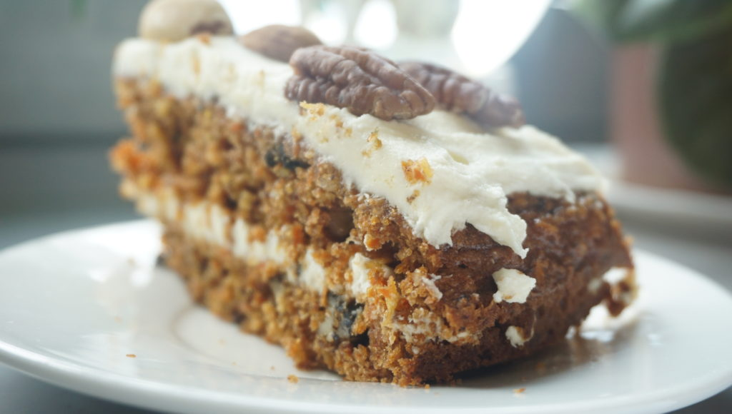 Carrot cake - the perfect harmony of carrots and nuts! There is no carrot week without a carrot cake! So this is for the ones that have a sweet tooth.  This cake is a healthier option to many other popular cakes - it has carrots in it right!!! So just do it and don't find any other excuses.  On the side note, this cake is soooo much better than storebought, so just let's get busy and make this delicious Carrot Cake now!!!