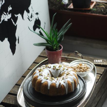 COURGETTE PISTACHIO CAKE ~ BABKA