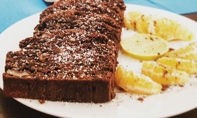 Homemade beetroot brownie