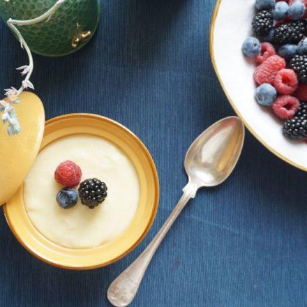 Kasza manna z owocami - Legumina (Rodzinny przepis)