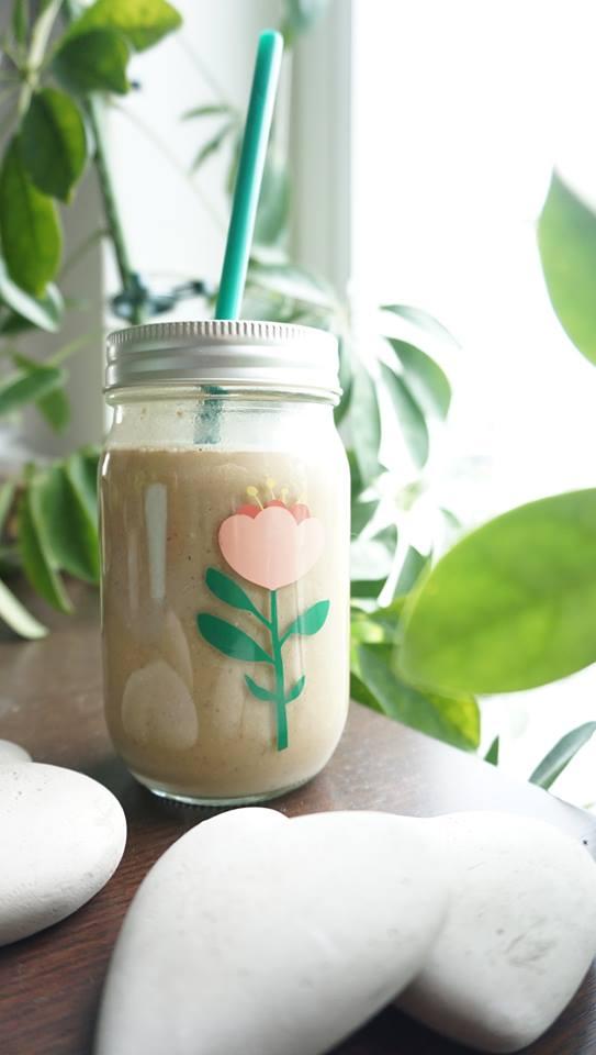 Banana and coffee milkshake