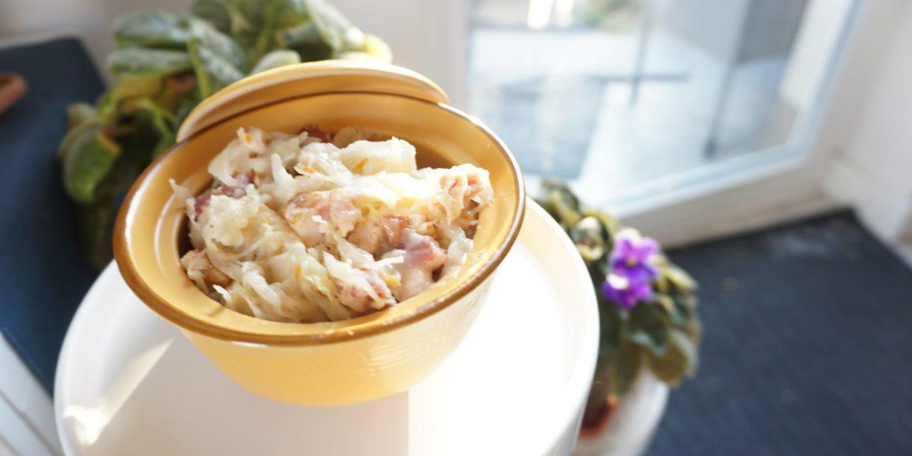 Sauerkraut with bacon