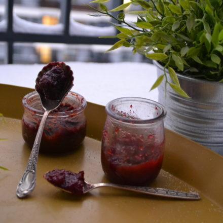 Plum and choco-plum jam