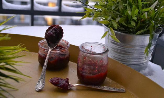Plum jam and choco-plum jam