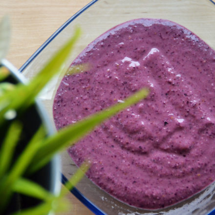 Oatmeal smoothie with Forest Fruits