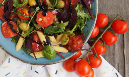 Chorizo pasta salad