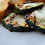 Grilled courgette with mozzarella cheese