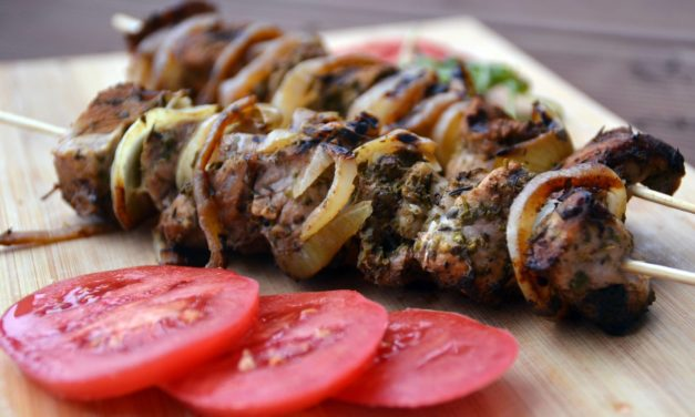 Meat shashlik (Shish kebab)