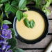 White creamy asparagus and carrot soup